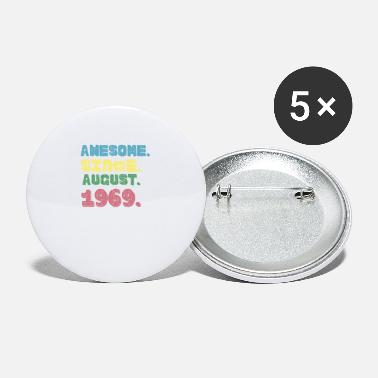 Since Funny Awesome Since August 1969, Distressed Text - Small Buttons