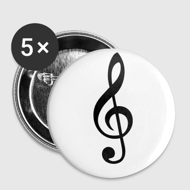 treble clef - Small Buttons