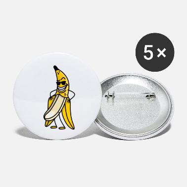 Streaker Cool funny banana cartoon Bachelor Party stripper - Small Buttons