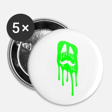 Slimy Ugly slime face - Small Buttons