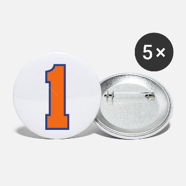 Sports Jersey - Number 1 (2-color custom) - Small Buttons