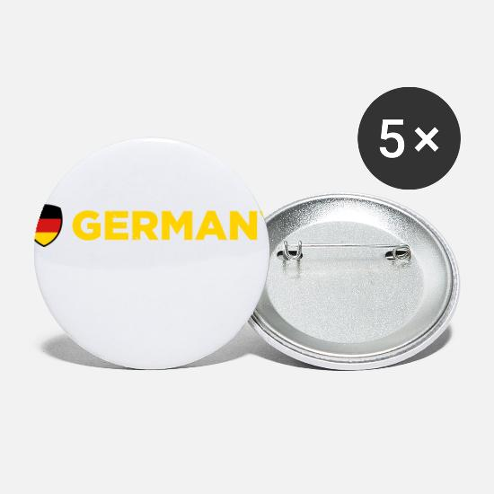 Hamburg Buttons - National Flag Of Germany - Small Buttons white