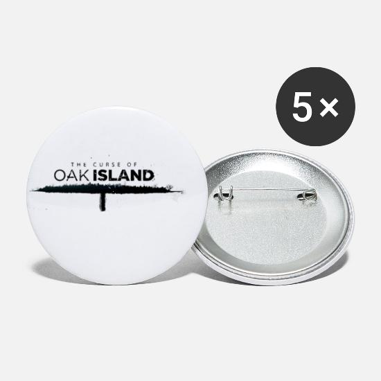 Island Buttons - The curse of oak island - Small Buttons white
