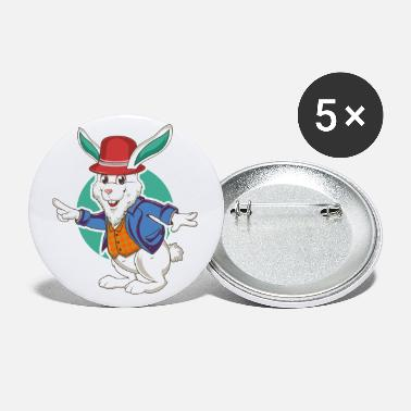 Funny Rabbit Cute Funny Rabbit - Small Buttons