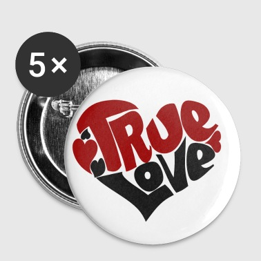 True Love Heart - Small Buttons