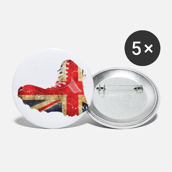 Gift Idea Buttons - Great Britain London England UK - Small Buttons white