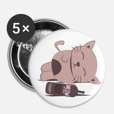 Sober Cat sober wine - Buttons small 1'' (5-pack)