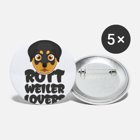 Gift Idea Buttons - Rottweiler Puppies Pup Dog Lover Gift - Small Buttons white