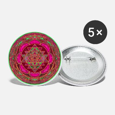 Wealth Lakshmi Yantra Mandala for Wealth - Small Buttons