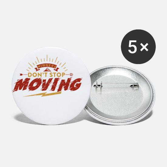Move Buttons - Keep Moving - Small Buttons white