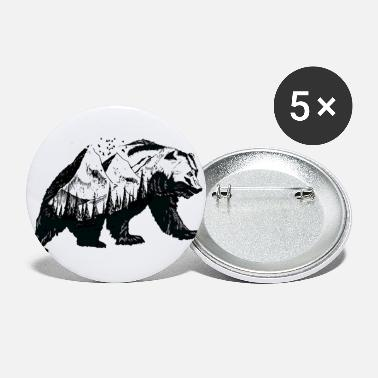 Nature Natural bear - Small Buttons
