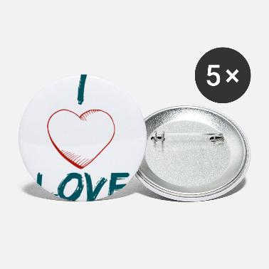 I Love i love love - Small Buttons