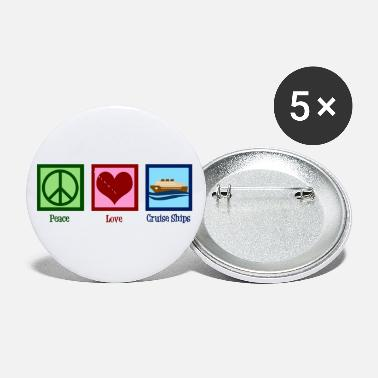Peace Love Cruise Peace Love Cruise Ships - Small Buttons