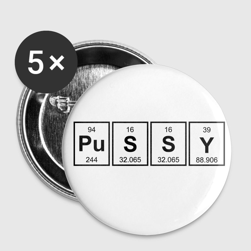 Periodic Table Of Pussy - Small Buttons