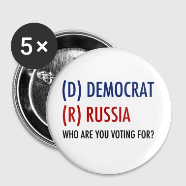 Democratic Party D is Democrat R is Russia - Small Buttons