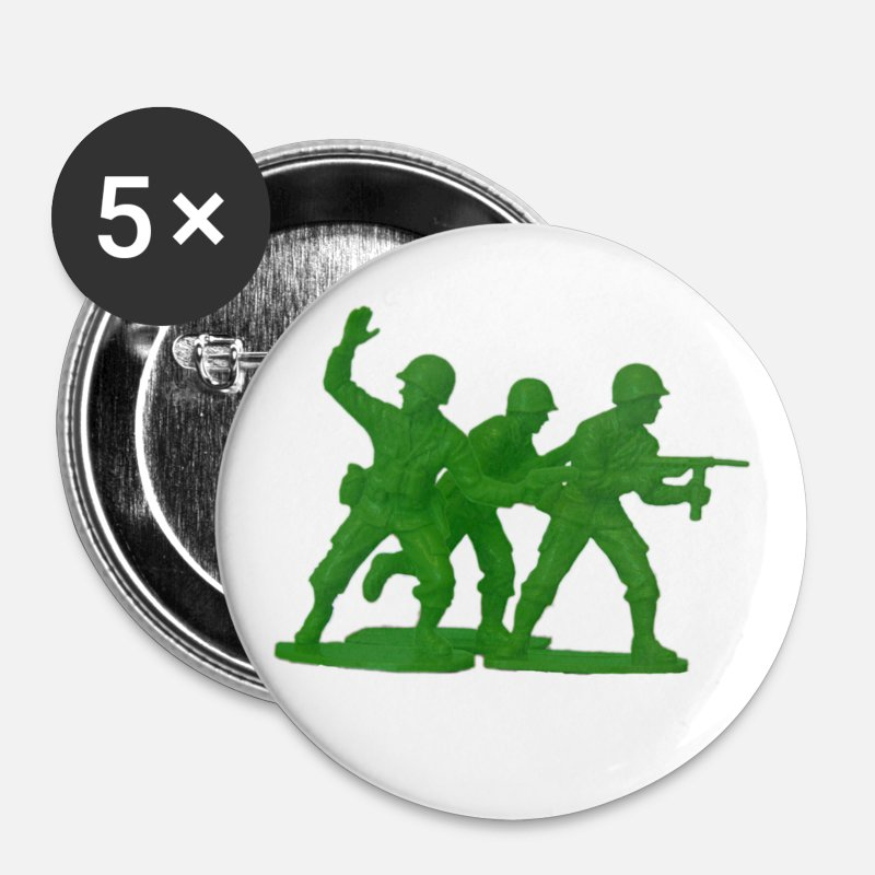 Brigade Buttons - Army Men Detail - Small Buttons white