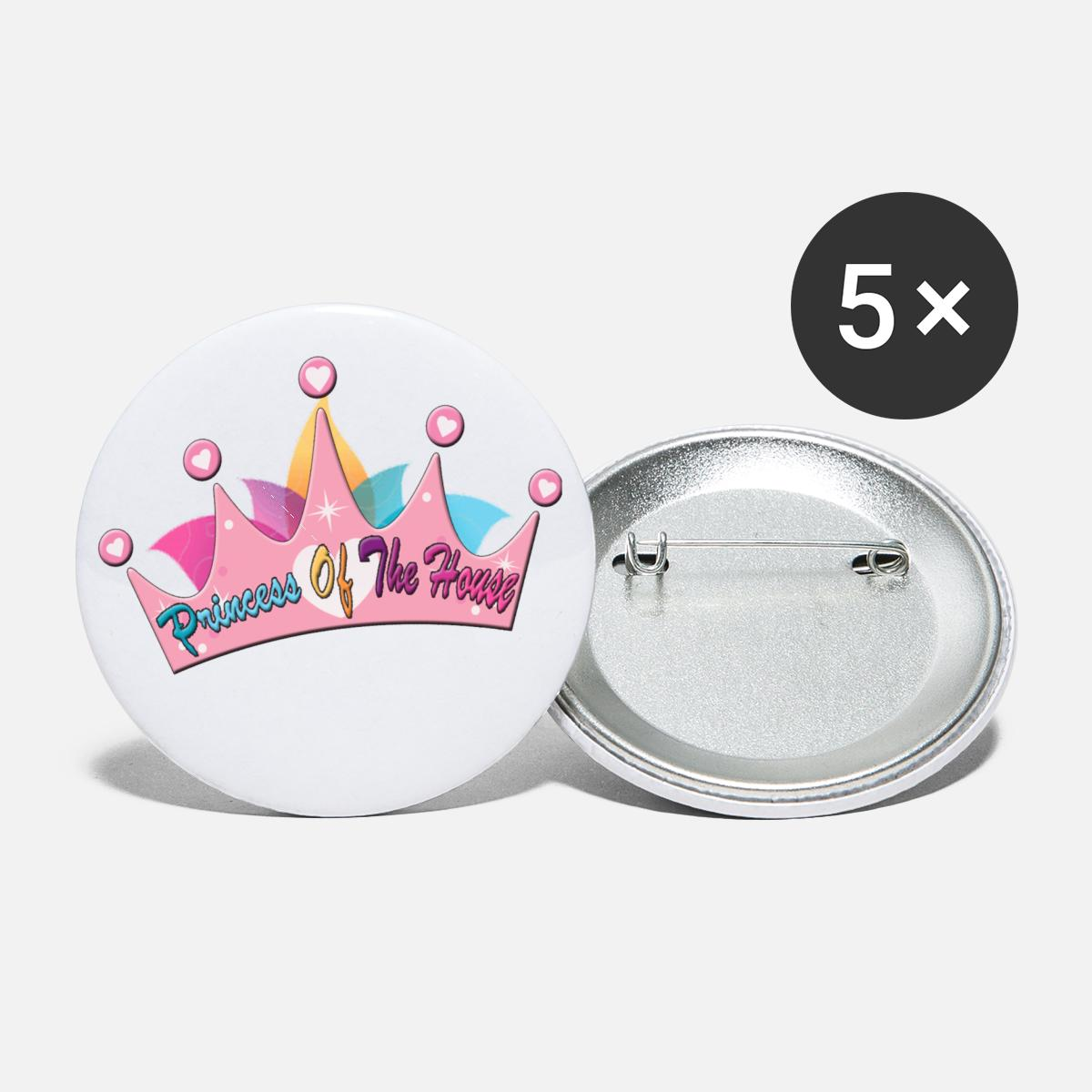 prices oof the house Buttons small 1'' (5-pack) - white
