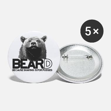Trend Animal Bear and beard - Small Buttons
