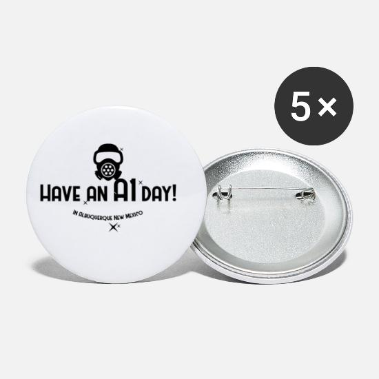 Hazmat Buttons - Have an a1 day - Small Buttons white