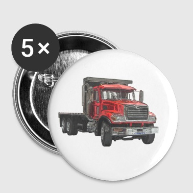 Flatbed Truck - Red - Small Buttons