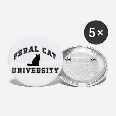 Catalan Designs FERAL CAT UNIVERSITY DESIGN 2P - Small Buttons