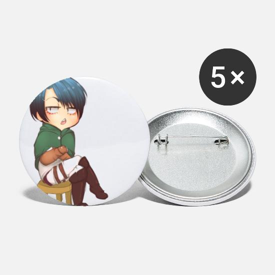 Levi Buttons - rivaille more like sassaille - Small Buttons white