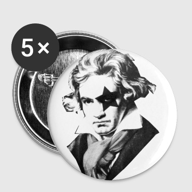 Beethoven rock Kiss Black Metal - Small Buttons