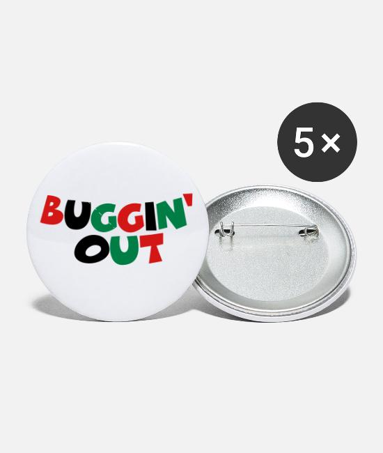 Bugging Buttons & Pins - Buggin' Out - Small Buttons white