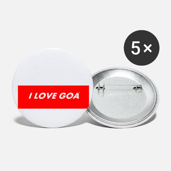 Love Buttons - I LOVE GOA for all goa fans and lover - Small Buttons white