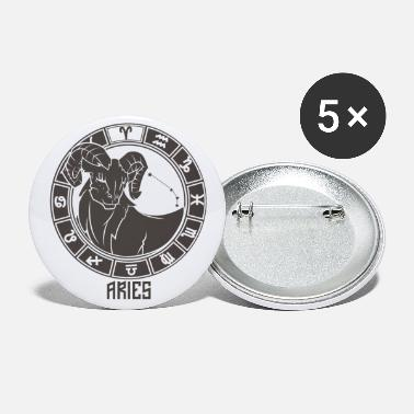 Chinese Symbols Aries Zodiac Sign Symbol March April Birthday - Small Buttons
