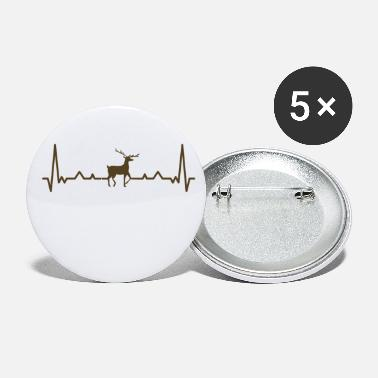 Heart Rate Deer With Heart Rate - Small Buttons