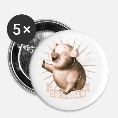 Go Vegan - Small Buttons