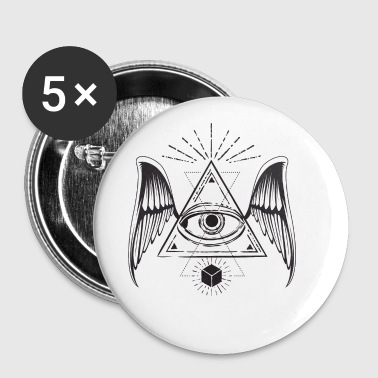 All seeing eye with wings - Small Buttons