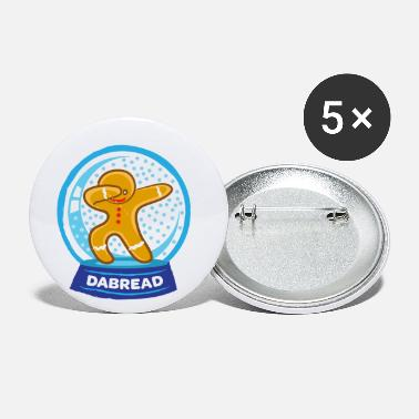 Snowstorm Dab Dabbing Gingerbread Man Cookies Christmas - Small Buttons