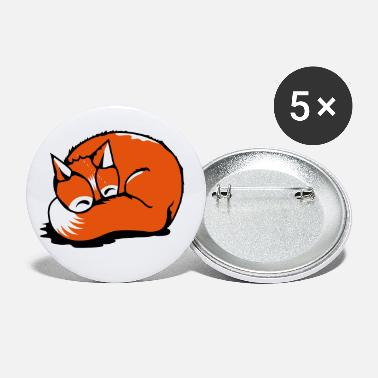 Foxtail A sleeping fox - Small Buttons