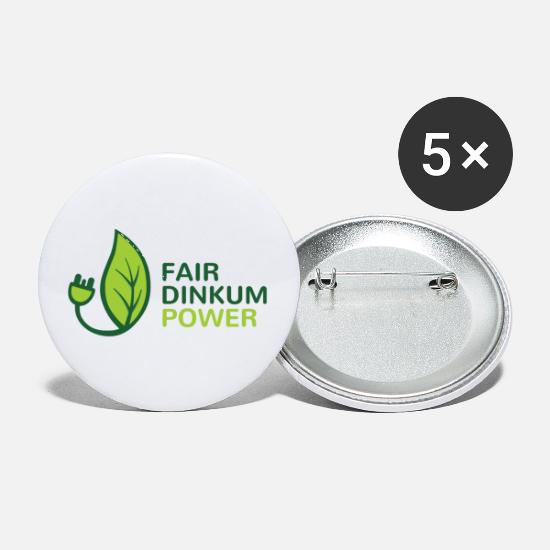 Fair Buttons - Fair Dinkum Power swag - Small Buttons white