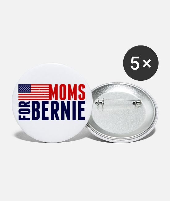 Bernie Sanders Buttons & Pins - Moms for Bernie Sanders - Small Buttons white