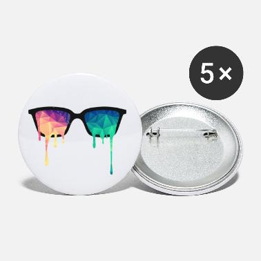 Spreadshirtlikes Abstract Psychedelic Nerd Glasses with Color Drops - Small Buttons