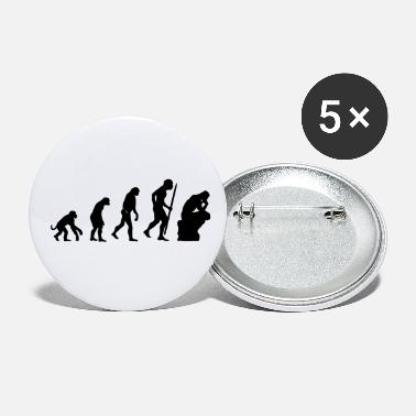 Darwin Evolution of the thinker philosophy, philosopher - Small Buttons
