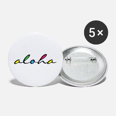 Tahiti ALOHA colourful - Small Buttons