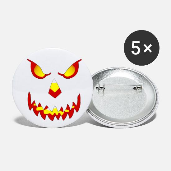 Gothic Buttons - scream - Small Buttons white