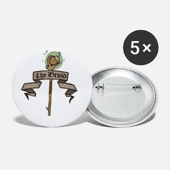 Druid Buttons - The Druid - Small Buttons white