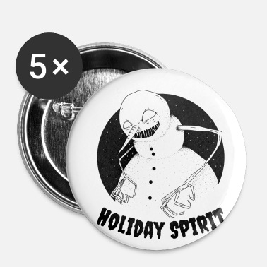 Holiday Spirit | Creepy Xmas Snowman - Small Buttons