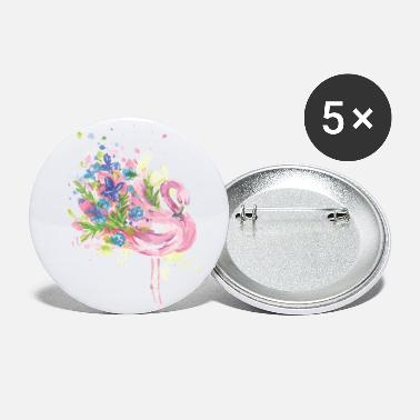 Dreamy Flowers Flower Flamingo - Small Buttons