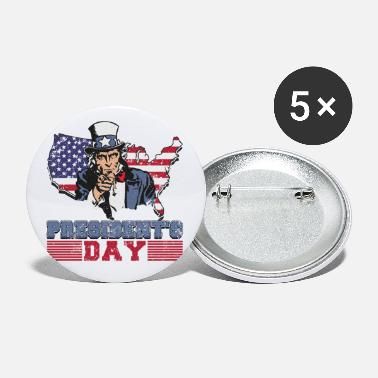Patriot Presidents Day uncle Sam - Small Buttons