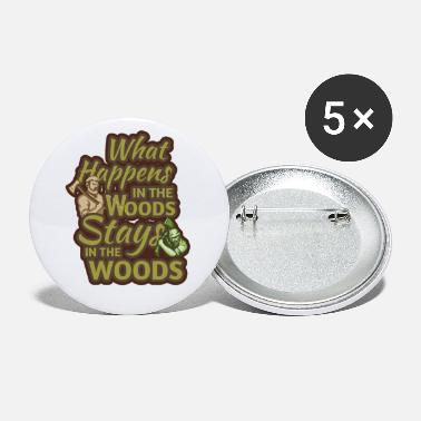 Axe Lumberjack, Wolf, Plaid - Small Buttons