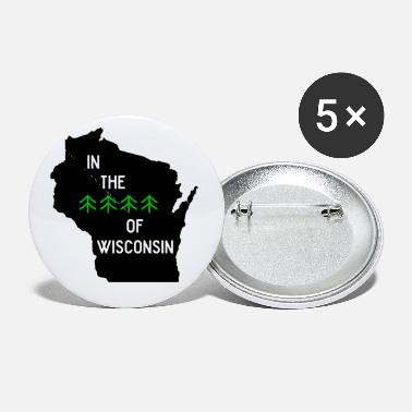 Wisconsin Funny Woods of Wisconsin - Small Buttons