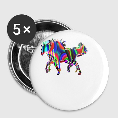 horses race - Small Buttons