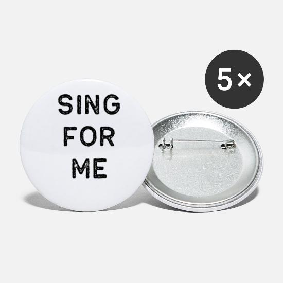 Guitar Player Buttons - Music Shirt Sing For Me Dark Song Writer Musician Guitar Player Singer Gift - Small Buttons white