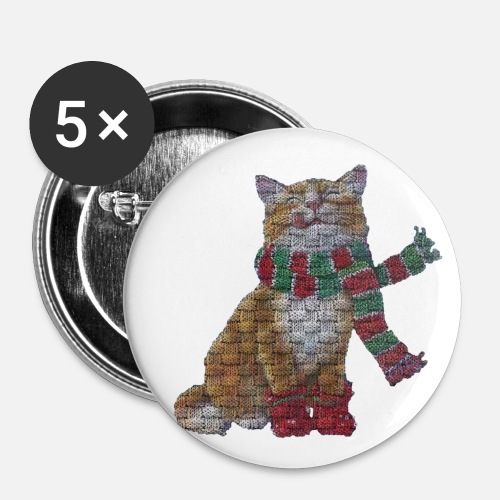 Cat With Scarf Christmas Knitting Pattern By Dynamike2012 Spreadshirt